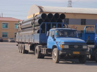 truck with casings