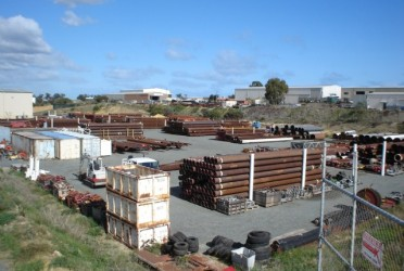 pipes in stock yard