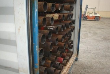 pipes in shipping container
