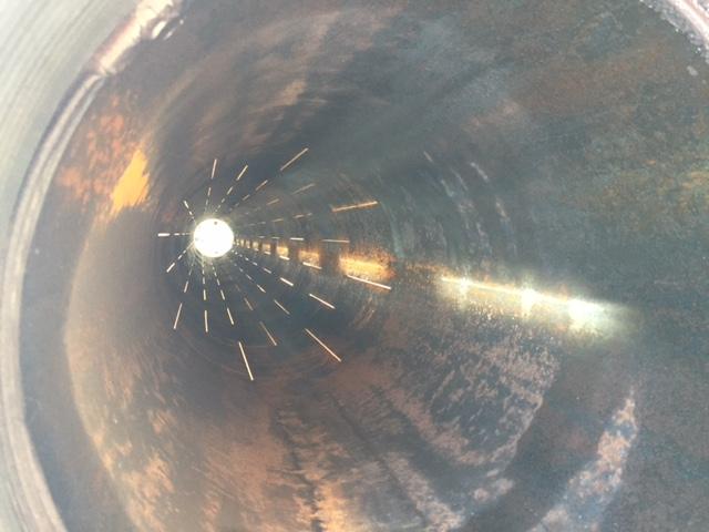 inside of pipe