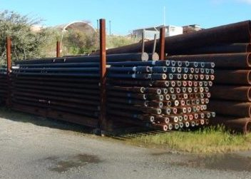 pipes stacked in storage